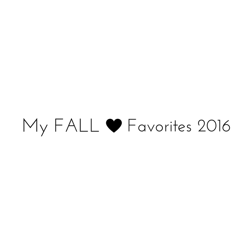 Fall Favorites 2016